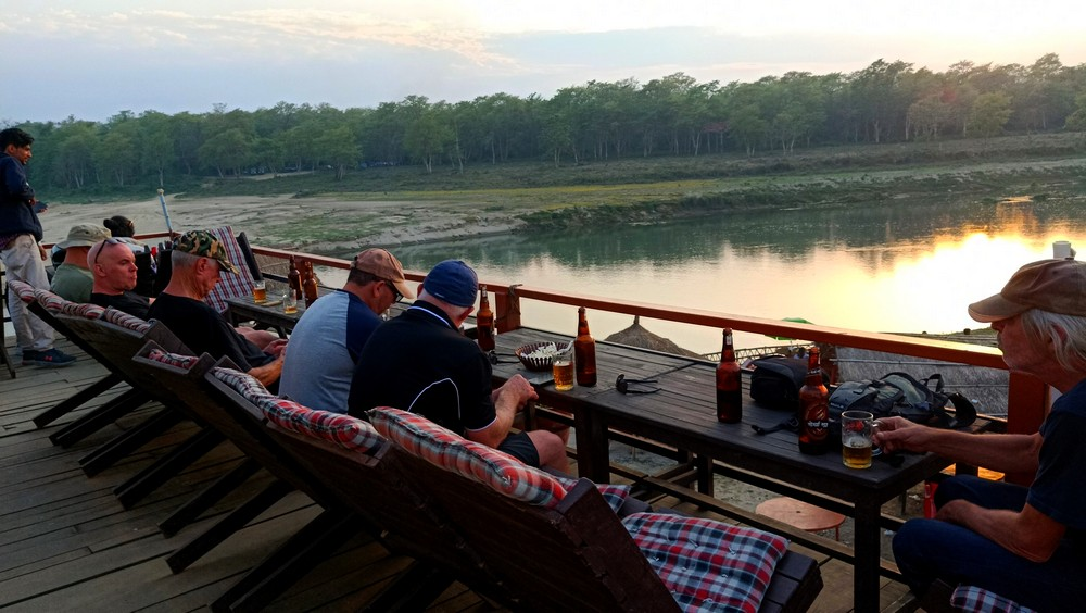 Watching the sun set at Chitwan National Park