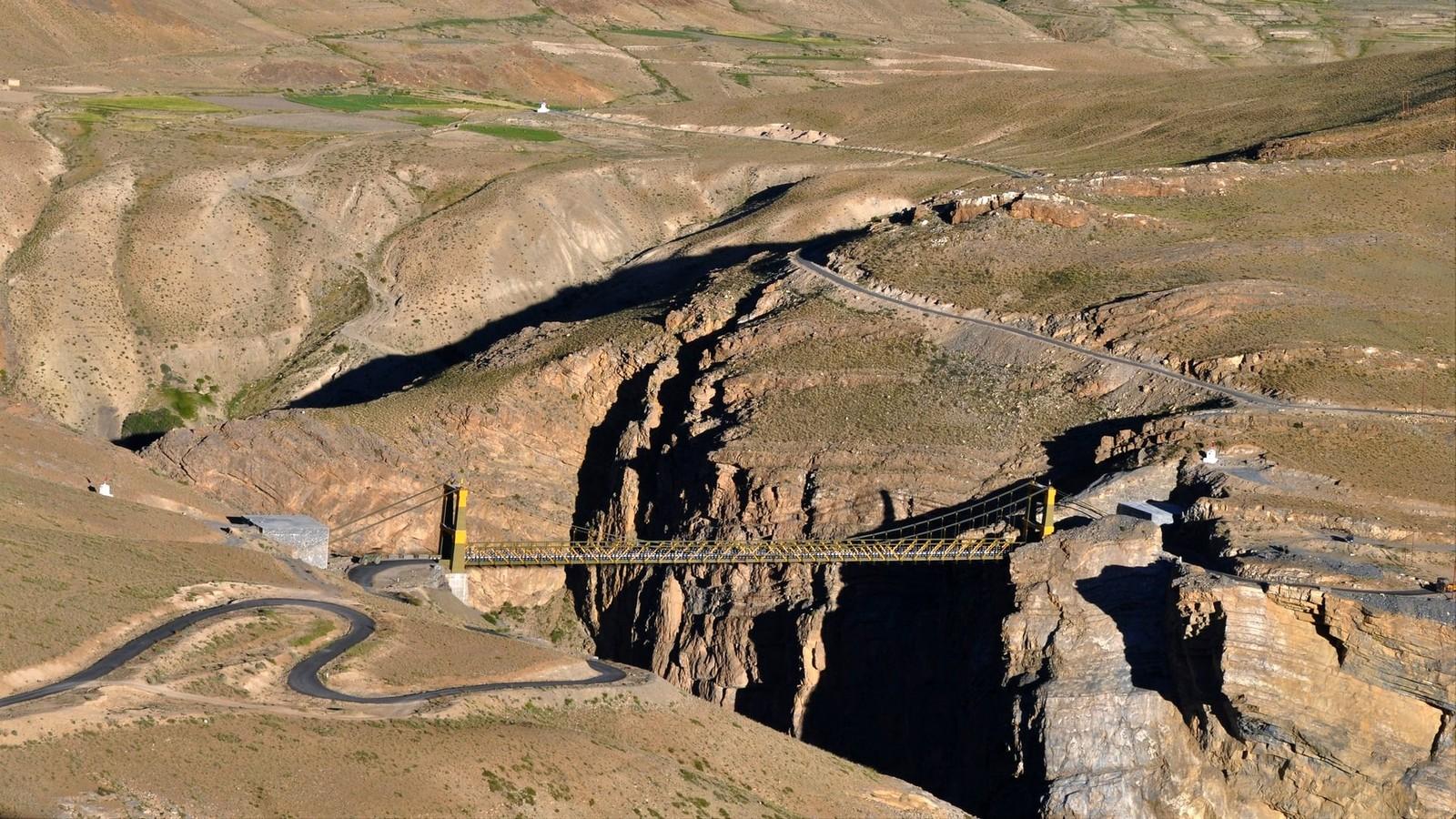 Chicham Bridge in Spiti Valley