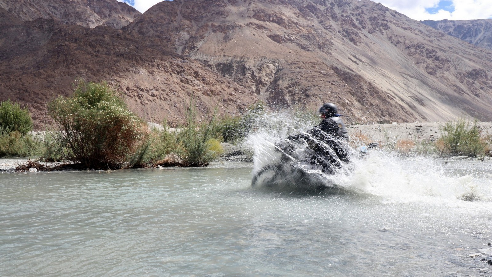 Crossing a River in the Spiti Valley