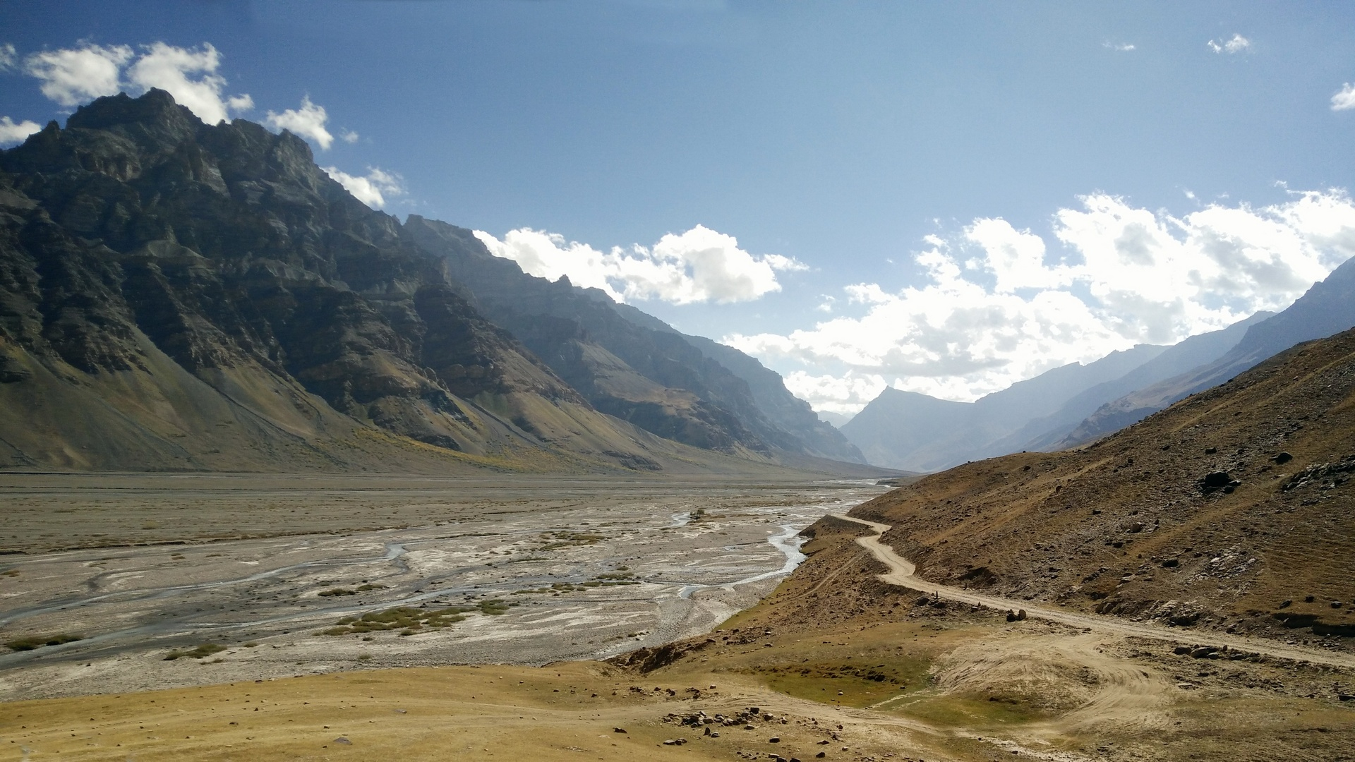 Looking down the Spiti Valley