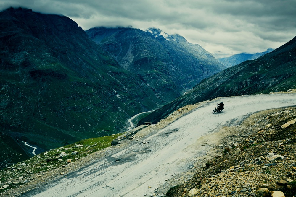 Sun breaks through the clouds over Rohtang Pass